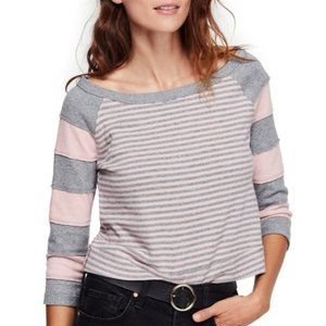 NWT Free People First Mate Cropped Hem Tee pink